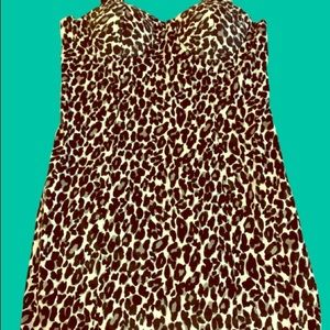 Charlotte Russe leopard BodyCon Stretch Dress NEW